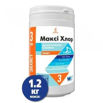 Макси Хлор 1,2 кг Защита воды в бассейне