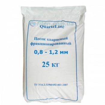 Песок кварцевий 0,8 - 1,2 мм, 25 кг